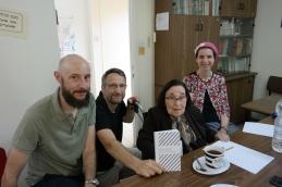 V.l.n.r. Dr. Marco Helbig, Dr. George Y. Kohler, Prof. Dr. Miriam Gillis-Carlebach, Fr. G. Goldmann