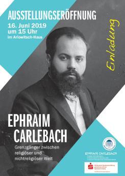 Carlebach Flyer für Eröffnungsveranstalung am 16. Juni 2019 um 15 Uhr.