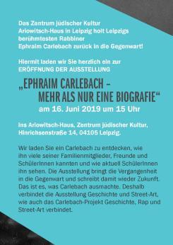 Carlebach Flyer Einladungstext